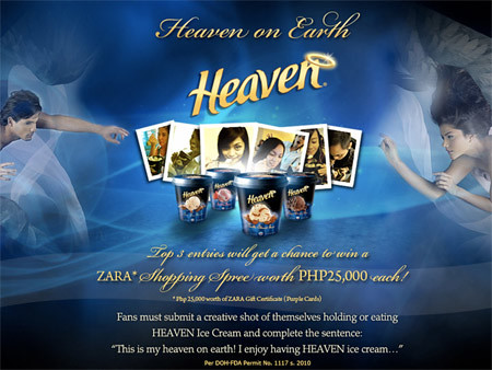 Heaven on Earth - Heaven Ice Cream Promo - Freebies, Giveaways, Promos for Pinoys - PinayReviewer.com