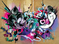 AnyForty Exhibition / Loony (Chris Malbon) Tags: illustration digital photoshop crazy paint acid warped tomcat loony anyforty