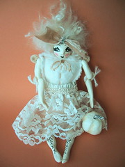 Lumina art doll (bewitchedmagic) Tags: cute vintage pumpkin ebay lace embroidery cream velvet mohair ribbon artdoll netting sculpted laurieduncan papermache lumina shabbychic bigeyed paperclay prettyposhposies