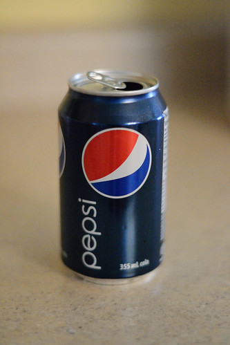 Pepsi Can shot with Nikon D3100 @ ISO 6400
