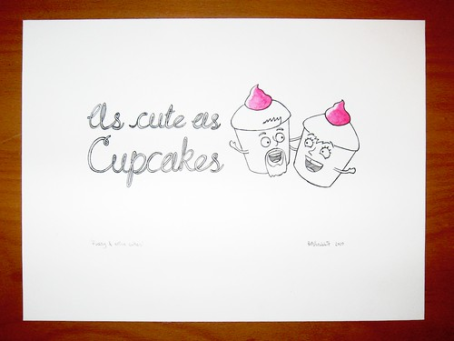 'As Cute As Cupcakes' gift illustration