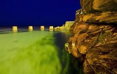Depth of Night (Sam Lodge) Tags: ocean life longexposure blue light sea colour reflection green water pool bondi night canon dark photography photo flickr sam sydney sigma australia wideangle lodge nighttime nsw clovelly maroubra bronte coogee teenage sigma1020mm 10mm oceanpool 550d teenagephotographer samlodge canon550d samlodgephotography