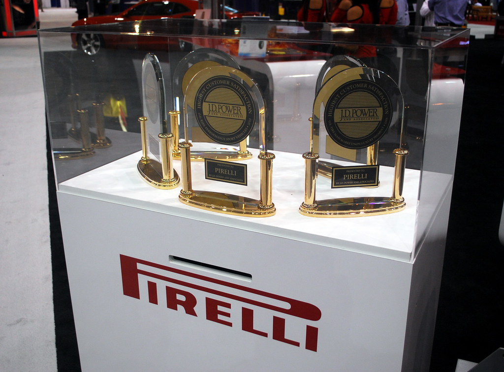Pirelli's collection of JD Power Awards at ITEC 2010