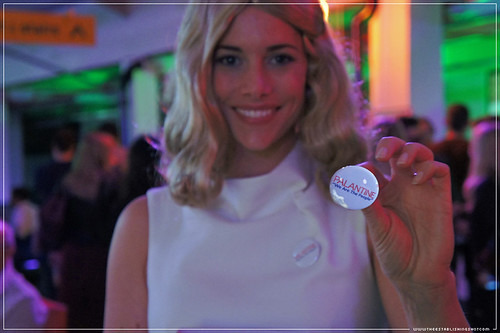 "Jameson Cult Film Club - Taxi Driver: Betsy hands out vote for Palantine ""We are the people"" badges."