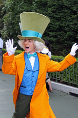 The Mad Hatter comes out for tea