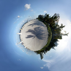 Miami Beach (1) - planet (diwan) Tags: usa beach america photoshop canon geotagged planet miamibeach 360° 2010 geo:lon=80127739 geo:lat=25789846