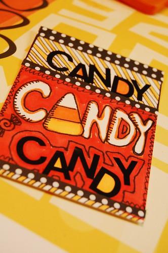 Halloween ATC Candy Corn
