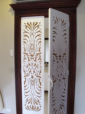 door to the bathroom