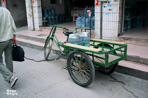 緑の三輪車