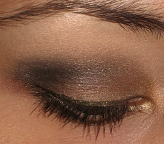 vegas wedding makeup (AxSDenied) Tags: brown black eye gold mac makeup smokey mineral smoky cosmetics eyeshadow neutral eotd meowcosmetics