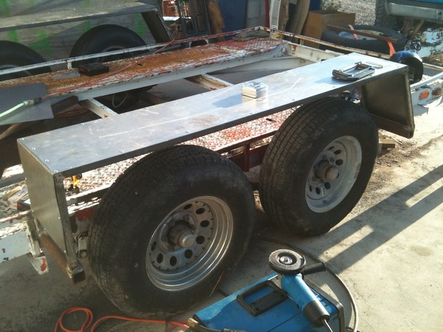 Tandem Axle Trailer Fenders : Homemade tandem trailer fenders ftempo