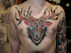 el ciervo (piranhart) Tags: tattoo chest tattoos deer piece piranha tatuaje ciervo pecho welldone xpiranhax