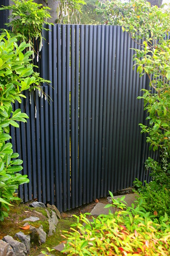 vertical fence and gate