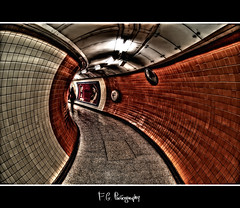 Tube London - Orange (-Francesco Giunta-) Tags: uk orange london art nikon mosaic tube fisheye views 105 hdr fg d3000 exploreit
