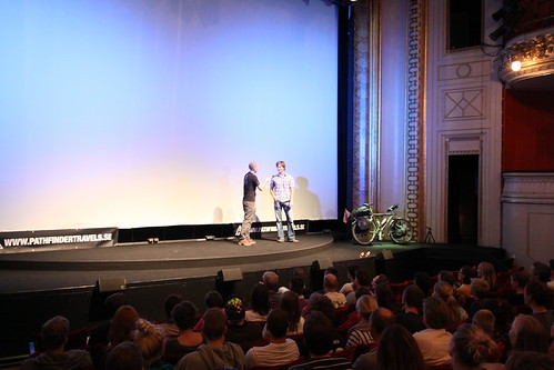 Getting interviewed just before the showcasing of my WT-trailer movie at the Banff Mountain Film Festival 2010. October 4th, 2010 in Copenhagen.