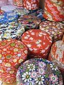 Washi Tea Containers (paperwoman) Tags: autumn fall japan flora tea dragonfly fibers washi handmadepaper cannisters chigirie wovenreeds