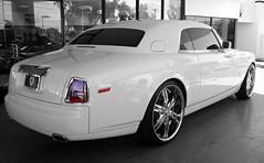 Rolls Royce Phantom Coupe (Monkey Wrench Media) Tags: uk arizona england white wheel inch unitedkingdom 26 britain united wheels lot kingdom rr rollsroyce az chrome showroom british rolls scottsdale elegant phantom 2008 coupe royce dealership dealer 100ex customwheels englishwhite lexani dropheadcoupe 26inch scottsdaleferrari worldcars lexaniwheels