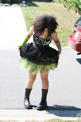 r07 (Apt To Wander) Tags: portrait black green punk dress braces boots little afro 14 grade sparkle teen cast jewish fedora eyeshadow doc 8th tutu martens reisa