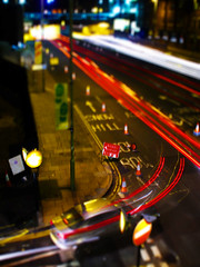 Birmingham Toy Town 1 (preynolds) Tags: road longexposure cars night lights dof tunnel redlight whitelight tiltshift toytown dualcarriageway