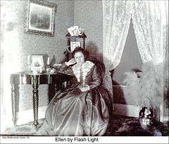 """Ellen"" of Dublin New Hampshire (Keene and Cheshire County (NH) Historical Photos) Tags: woman dress vase curtains parlor dublinnh dublinnewhampshire maryerobbe"