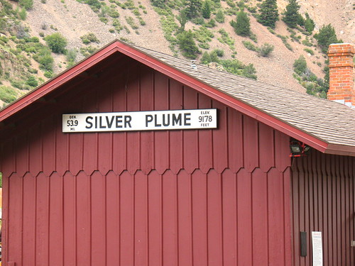 Silver Plume station, 9178 feet above sea level