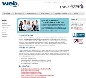 Web.com Contact Information