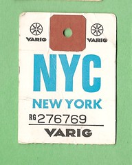 Varig - NYC, NY (MR38) Tags: travel tag ephemera e baggage ppaper claim airlinvarig