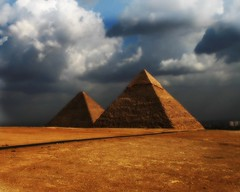 Khafre and Khufu's Great Pyramid (janetfo747) Tags: sky history weather clouds sand day pyramid cloudy plateau egypt powershot queen cairo chamber cannon pharaoh limestone burial giza astronomical khufu cheops burialchamber a620 gizaplateau colorphotoaward fatherofterror thegoldenphoenix abuelhol pharaohkhufu 100commentgroup gizapyramidsplateau ivdynasty tripleniceshot mygearandme mygearandmepremium mygearandmebronze mygearandmesilver mygearandmegold mygearandmeplatinum mygearandmediamond flickrstruereflection1 flickrstruereflection2 flickrstruereflection3 flickrstruereflection4 flickrstruereflection5 flickrstruereflection6 flickrstruereflection7 artistoftheyearlevel5 flickrstruereflectionexcellence artistoftheyearlevel7 artistoftheyearlevel6
