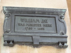 Photo of William Jay bronze plaque