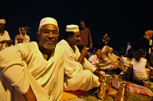 Sudanese family by the Nile