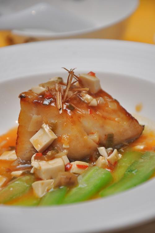 Grilled Cod Ma Po Bean Curd