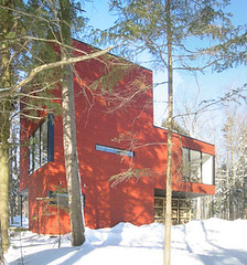 maisoncub tags roof house canada home glass metal architecture modern concrete cub casa - Casa Cub Moderne