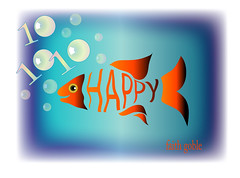 Happy 101010 (faith goble) Tags: fish art artist photographer goldfish kentucky ky faith cc lucky poet writer vector bowlinggreen ai adobeillustrator goble 101010 faithgoble gographix creaivecommons october102010 faithgobleart