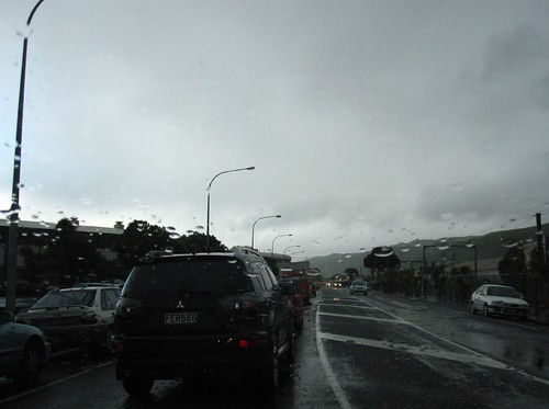 Rainy Petone commute