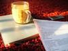 ذَلِكَـ الصَبَاح ..} (N.oo.n) Tags: كوب صباح قهوة قرمزي مذاكرة