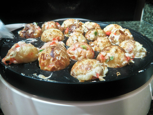 Making Takoyaki - Almost Done!