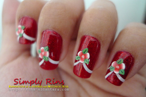 Nail Art Flower Tips 03