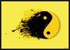 Taijitu (desalvea) Tags: photoshop peace yang yin splatter taijitu