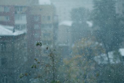 первый снег. москва