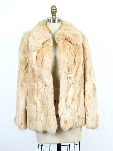 vintage 1960's faux rabbit fur jacket