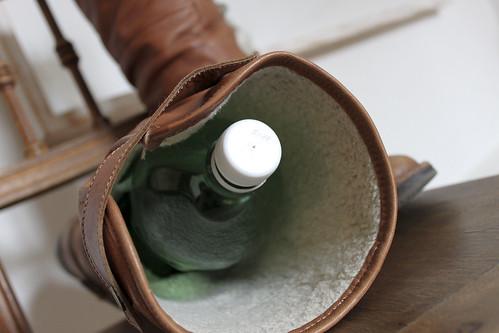 Petflasche im Stiefelschaft