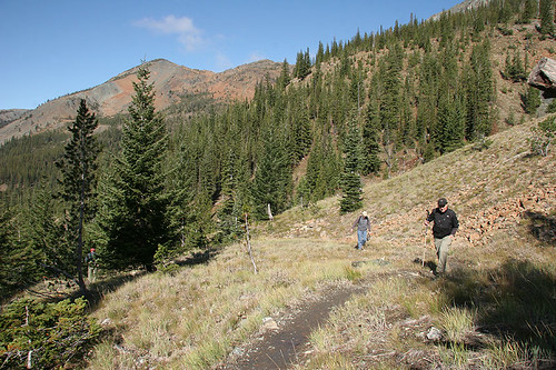 Climbing up on Ingalls Way Trail