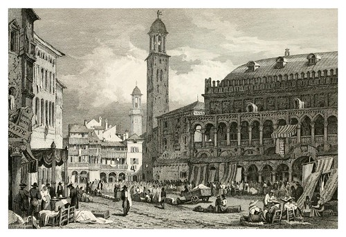 012-Plaza Salone en Padua-The tourist in Switzerland and Italy-1830-Samuel Prout