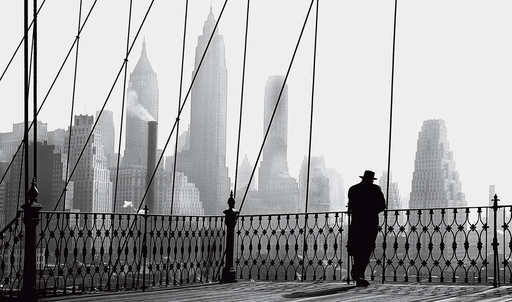 Paul Himmel: Brooklyn Bridge View, 1950.