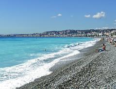 SNB10378- Plage de Nice France (South) 城市尼斯 (Rolye) Tags: blue sea mer france person yahoo google nice cotedazur image samsung www pebbles images bleu com provence galets nv7 nv7ops rolye 城市尼斯