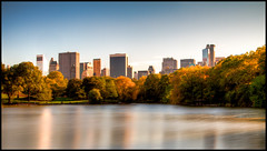 The Lake in Central Park during the Fall (RBudhu) Tags: nyc newyorkcity newyork centralpark 110 foliage nd thelake essexhouse gebuilding daytimelongexposure centralparkfall thelakeincentralpark newyorkcityinfall
