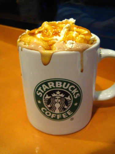Signature Hot Chocolate with Caramel and Extra Whipped Cream - Starbucks