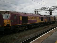 Crewe (DarloRich2009) Tags: crewe skip dbs ews wcml risingstar class67 crewestation 67027 englandwalesscotlnd