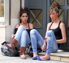 Sitting almost on the floor (chris8800) Tags: barcelona city girls portrait people urban face eyes women gesicht pretty jean expression retrato cigarette candid smoke cara young streetphotography ciudad menschen smoking yeux personas jeans ojos stadt attractive chicas denim females augen cigarettes fumar mujeres personnes mdchen ville filles femmes junge visage jovenes zigaretten frauen zigarette fumer rauchen jeunes cigarrillo tejanos expresion cigarillos appealing hbsch atractiva seduisante photographiederue fotografiadecalle strassenfotografie