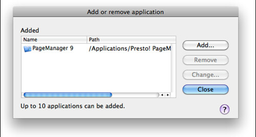 how to add an application for caching on mac